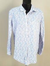 eea28419f2e NEW Gap Womens Boyfriend Fit Linen Pink Blue Floral Tunic Shirt Popover XS