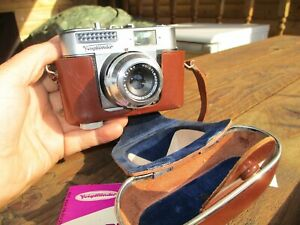 VINTAGE VOIGHTLANDER VITO BL 35MM CAMERA AND CASE NEAR MINT CONDITION
