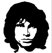 Jim Morrison (entire head) Lizard King The Doors Singer Rock N Roll Vinyl Decal