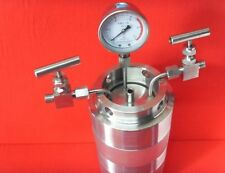 100ml Hydrothermal synthesis Autoclave Reactor vessel + inlet outlet gauge 6Mpa