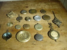 (16) Various Antique Clock Pendulums R&A Seth Thomas Ingraham French German Etc.