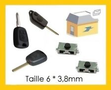 Lot de 2 Boutons Switch pour la réparation clé plip Peugeot 106 206 307 406