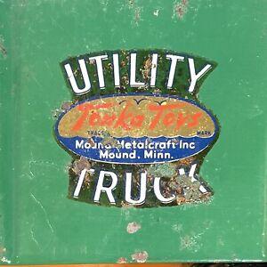 Vintage Tonka Mound Metalcraft Pressed Steel Cabover Utility Truck Circa 1953