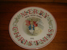 Vintage PETER RABBIT plate Merry Christmas Collectors excellent condition 1992