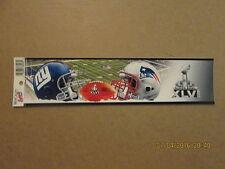 NFL Giants Patriots SUPER BOWL XLVI Logo Bumper Sticker