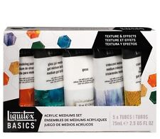 Liquitex Acrylic Paint BASICS MEDIUMS SET Gesso Modelling Paste Texture Gel