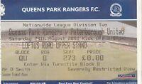 Ticket - Queens Park Rangers v Peterborough United 24.08.02
