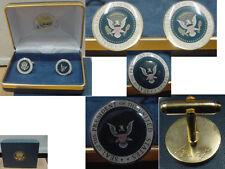 Pair of  presidential George W Bush cufflinks - color seal