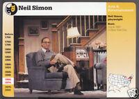 NEIL SIMON Playwight Photo Theatre Bio 1995 GROLIER STORY OF AMERICA CARD