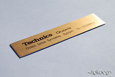 TECHNICS SL-1200 MK2 Turntable Plaque / Logo / Decal [GOLD] x 2 (HIGH QUALITY)