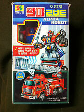 Rare 94 Transformers Fire Truck Korean Robot Figure Toy Model Doll Japan Anime