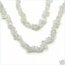 "233.00ctw GENUINE CRYSTAL Chips Beads 36"" NECKLACE NEW"