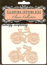 Bike Bycycle Set Craft Cutting Dies Ellentina DCT006 (2) Dies Tessler Crafts New