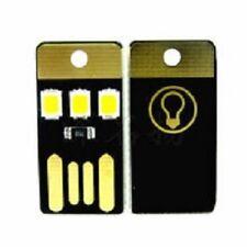 Mini USB Bolsillo Luz 3 chip Led Lampara Portatil Camping Noche