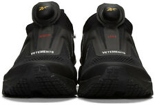 Vetements x Reebok Black Pump Supreme Sneakers US 8.5 Limited 100% Authentic