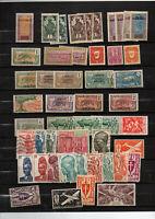 93 timbres colonies avant independance : Cameroun-Hte Volta - Cote Ivoire-Dahome