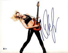 Nita Strauss Signé 11x14 Photo Bas Beckett COA Alice Cooper Guitare Autograph