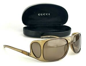 Vintage Gucci Sunglasses GG 1448/s Flat Top Side Lenses Drop Hinge Italy RARE