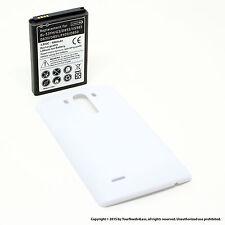 6800mAh Extended Battery for LG G3 D830 D851 White Cover