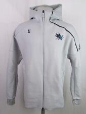 San Jose Sharks Men's Adidas Front Zip Hoodie Gray S, M
