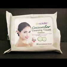 epielle® Cucumber Facial Cleansing Tissues Makeup Remover Face Wipes 30ct