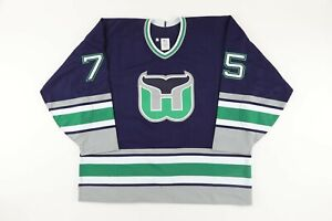 1993-94 Hartford Whalers #75 PRE-SEASON WORN Hockey Jersey
