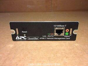 APC AP9617 Smart Slot 10/100 Base-T Network Management Module Card ONLY