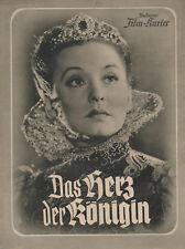 Das Herz der Königin (1940) Illustrierter Film-Kurier 3143 Zarah Leander