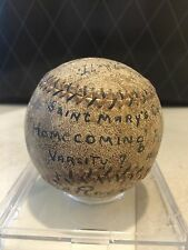 HISTORIC FEB 1928 ST. MARY'S COLLEGE GAME USED SIGNED HOMECOMING TROPHY BASEBALL