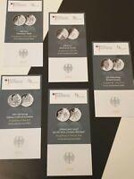 Original VfS Flyer Zertifikate 10 Euro Silber Gedenkmünzen Komplettset 2014 5 St