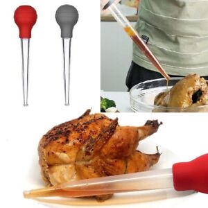 Turkey Baster Cooking BBQ Meat Flavor Food Basting Measuring Tube for Xmas UK