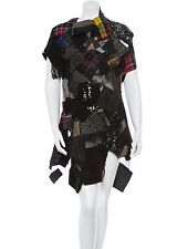 SPECTACULAR $4,085 SUPER RARE NWT PATCHWORK COMME DES GARCONS DRESS/TUNIC/TOP