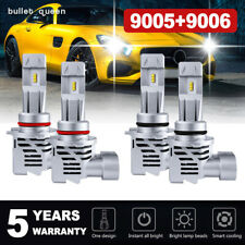 9005 9006 LED Headlight Bulbs 48000LM For Chevy Silverado1500 2500 HD 1999-2006