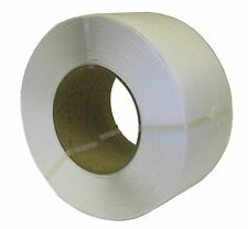 More details for machine pallet strapping white coil 12mm x 0.55mm x 3000m