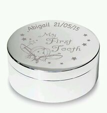 Personalise Fairy My First Tooth Trinket Box Girl and Boy Gift