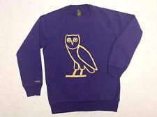 OVO Owl Logo Crewneck Sweatshirt Purple Gold Size S Mens