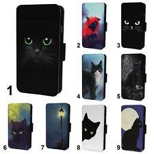 Black Cat Flip Phone Case Cover - Fits Iphone