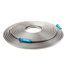 "1/2"" x 100 ft Heavy-Duty Stainless Steel Garden Hose Garden Watering Plants Yard"
