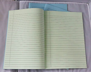 A4 Tinted Paper Exercise Books x3 Ideal For Visual Stress Lined Pale Green P624