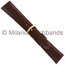 22mm Milano Norwegian Calf Brown Tapered Stitched Mens Watch Band