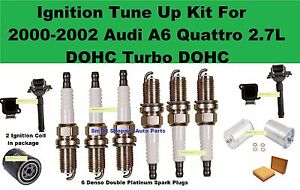 Ignition Tune Up Kit For 00-02 Audi A6 Quattro 2.7L DOHC Coil Spark Plug Filter