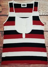Dolce & Gabbana D&G Womens Shirt Sz L Sleeveless Crew Tank Style Top Striped