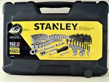 Stanley 162 pc SAE Metric Mechanics Tool Set Ratchet Socket Extension Nut Driver