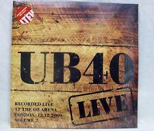 "NEW UB40 ""Live At 02 Arena 12/12/09: V.2"" 2-LP Red-Vinyl Record Set (LETV379LP)"