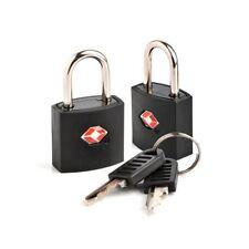 TSA Approvato 2 PACK di sicurezza identificando blocco tasti Lucchetto Per Valigia Bagaglio Da Viaggio
