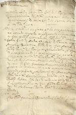Antico Documento di San Pietro in Caminadella Milano 1633 Fede di Matrimonio