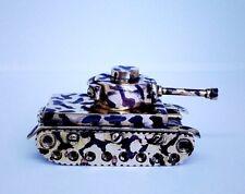 Vintage Petrol Lighter Table German tank of World War II  trench art paperweight