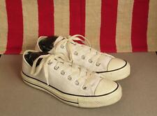 Vintage Converse Chuck Taylor White Leather Low Top Sneakers Size 6 Shoes Nice!