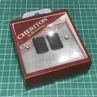 Hamilton 2G 2 Way 10AX Rocker Bright Chrome Black Insert 95R22BL/BL