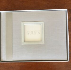 C. R. Gibson White Sands Customizable Wedding Guest Book 9 X 7 Inches